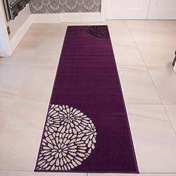 Alfombra moderna lisa de pasillo Violeta (Varias medidas)