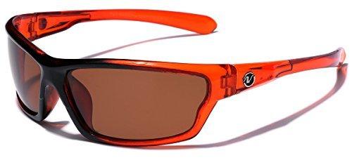 Nitrogen Polarisiert Verpackung um Sport-Sonnenbrille - Orange 1 69 eine Größe passt meistens Orange | Braun