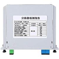 Divisores de montaje en bastidor de fibra óptica PLC, SC - UPC Puerto 1 a 2, 1260-1650nm Longitud de onda Circuito de onda de luz plana monomodo (1 x 2) para EPON BPON GPON