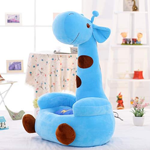 Y&Y Cartoon sofastuhl,Pp-Cartoon Kind plüschtier Kinder Sofa Giraffe Tier Stuhl Sitz Bean Bag Kleinkindmöbel Für mädchen Jungen Geschenk-blau 27.5in (Baby-jungen Bean-bag Für)