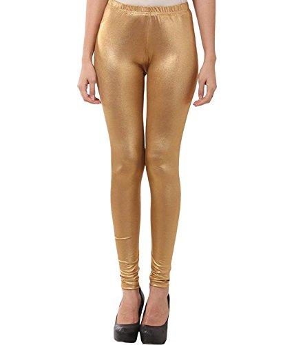Dream & Dzire Golden Women's Viscose Leggings