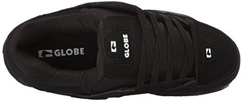 Globe Fusion Nero/Rosso/notte scarpe da skate Black/Black/White