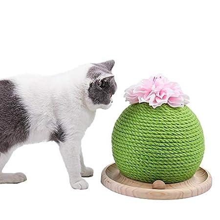 Lustige Katze Spielzeug Katzenkratzbrett mit Sisal hängenden Ball für Katzenkrallen spielen