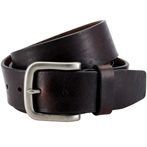 Lindenmann The Art of Belt Mens leather belt/Womens leather belt, full grain leather belt, casual unisex, dark brown