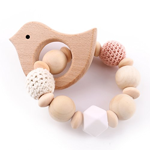 Best for baby Pulsera mama Teether madera Mordedor