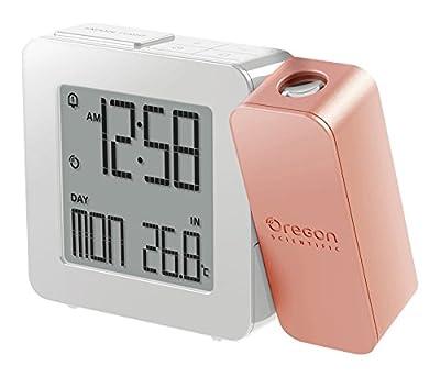 Oregon Scientific RM338P PROJI Orologio con proiezione e doppio allarme sveglia - Rose Gold by Oregon Scientific Italia Srl