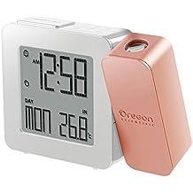 Oregon Scientific RM338P PROJI Orologio con proiezione e doppio allarme sveglia - Rose Gold