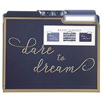 Belle Maison Set of 12 Decorative Letter Size File Folders ~ to Dare