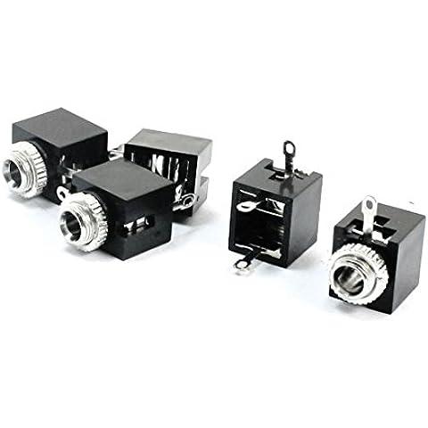 Soporte de Panel PCB 3,5 mm hembra Conector de vaso de entrada de Jack de 5 piezas