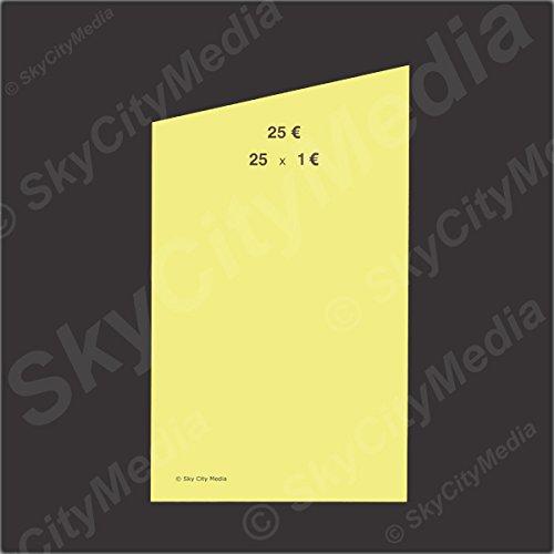Münzrollpapier für Euro Münzen je 50x ( 1,00 € Papier) für Geldrollen / Rollgeld Münzrollenpapier / Handrollpapier / NEU