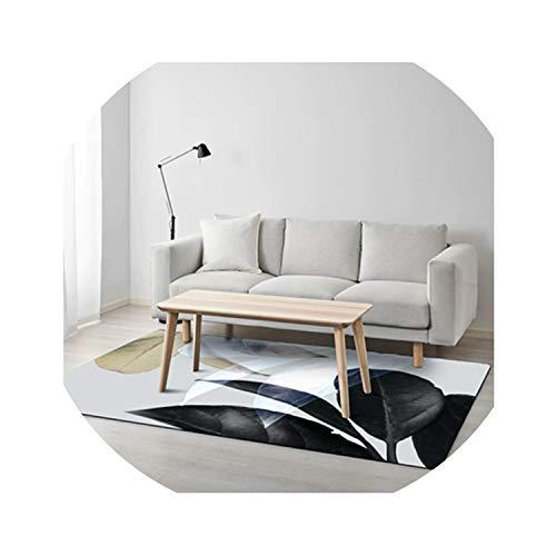 3D acuarela Hojas alfombras moquetas sala estar dormitorio