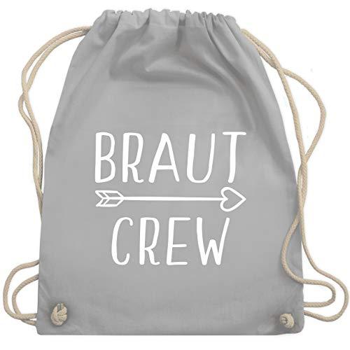 Crew Kostüm Team - JGA Junggesellinnenabschied - Braut Crew Pfeile - Unisize - Hellgrau - WM110 - Turnbeutel & Gym Bag
