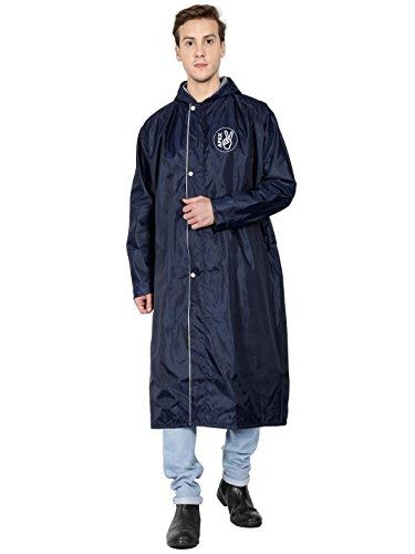 FabSeasons Apex-Long Polyester Raincoat, X-Large (Blue)