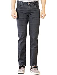 Par Excellence Men's Grey Relaxed Fit Jeans