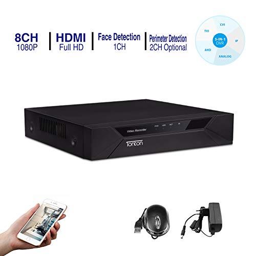 Tonton CCTV 8CH 1080P HD 5 in 1 DVR Receiver Netzwerk Digital Video Recorder Aufzeichnungsgerät ohne Festplatte, HDMI VGA Ausgang, unterstützt 720P 1080P 960H: AHD/TVI/CVI/IP Kamera/Analog Kamera Hd-digital-kamera-video-kameras