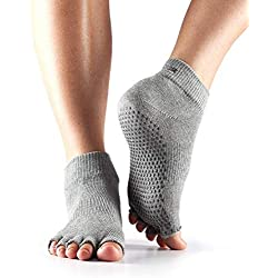 Toesox Half Toe Ankle Unisex Adulto, Gris (Heather Grey)