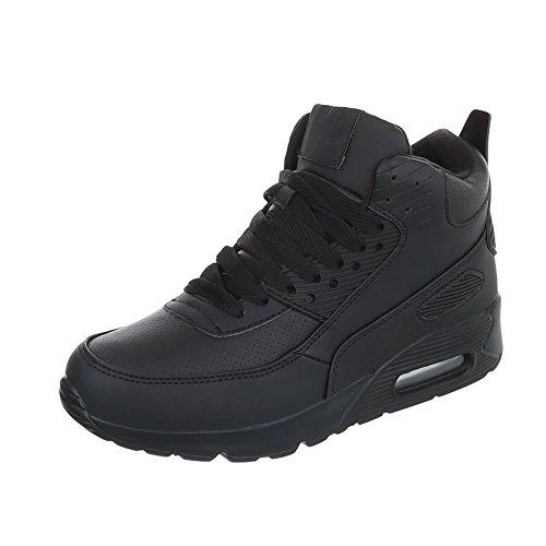 Scarpe da donna Sneaker piatto Sneakers high Ital-Design Nero