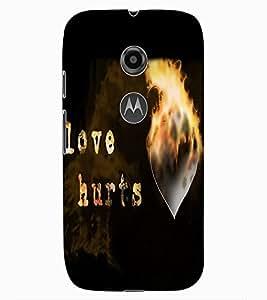 ColourCraft Love Quote Design Back Case Cover for MOTOROLA MOTO E2