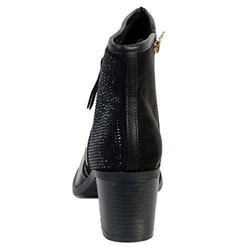 Xti Schuh Botin Mod 28518 Negro Combinado Noir