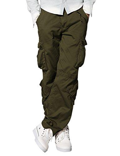 Match Uomo Pantaloni Cargo #3357(Esercito verde(Army green),40W x 33L)
