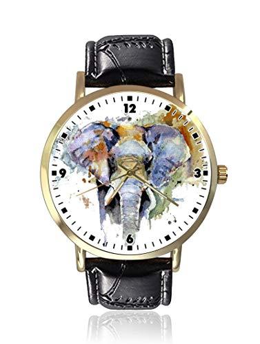 Reloj de Pulsera de Cuarzo con diseño de Elefantes de Acuarela, Unisex,...