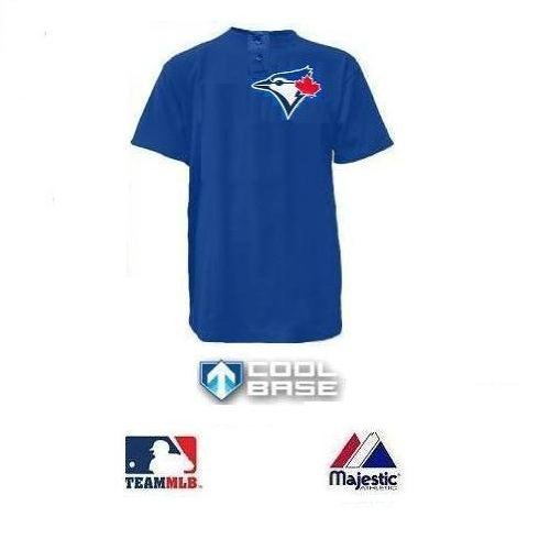 toronto-blue-jays-adult-2x-cool-base-moisture-management-two-button-mlb-officially-licensed-majestic