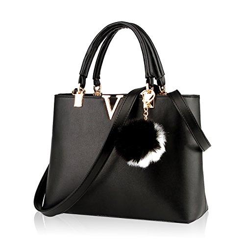 Tisdaini Mode Damen Handtaschen Business Taschen V Wort Einfachheit Umhängetaschen Handtaschen für Damen Gerdbörsen