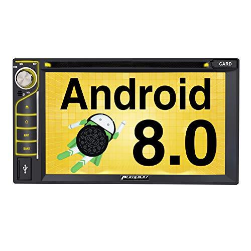 Pumpkin Android 8.0 Autoradio DVD Player mit Navi 4GB Unterstützt Bluetooth DAB+ WLAN USB CD DVD Android Auto MicroSD 2 Din 6,2 Zoll Bildschirm Universal