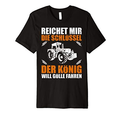 König Lustig T-shirt (Herren Landwirt Shirt Bauer Geschenk Lustige Sprüche Traktor)