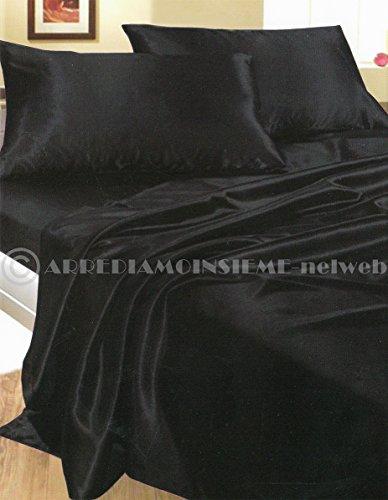 completo-matrimoniale-raso-nero-set-lenzuola-sopra-sotto-con-angoli-2-fodere-cuscini