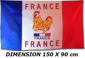 *** PROMOTION *** Drapeau France avec coq - 150 x 90 cm