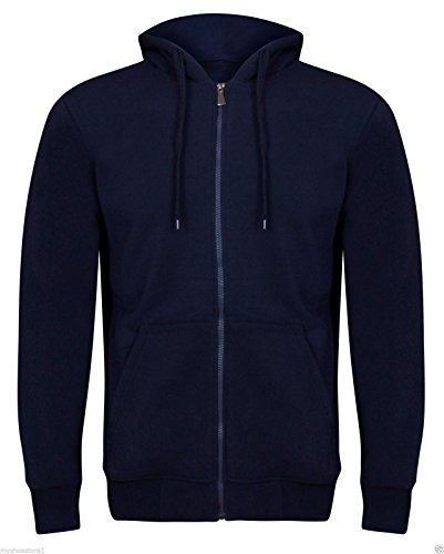 Soho Fashions Herren Kapuzenpullover (Hoodie) Kapuzenpullover Blau