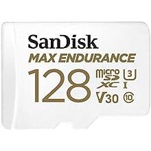 SanDisk MAX Endurance Scheda microSDXC 128 GB per Videosorveglianza Domestica e Dashcam, con Adattatore SD, 60.000 ore di Endurance