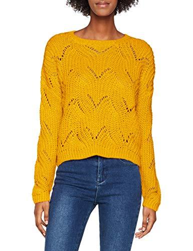 ONLY NOS Damen ONLHAVANA L/S KNT NOOS Pullover, Gelb (Golden Yellow Golden Yellow), Small (Herstellergröße: S)