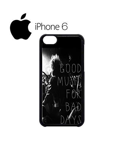 Good Music For Bad Days Concert Festival Swag Mobile Phone Case Back Cover Hülle Weiß Schwarz for iPhone 6 Black Schwarz