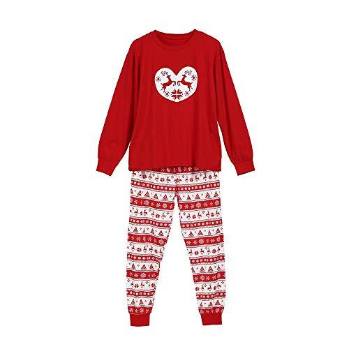 Ears Eltern-Kind-Weihnachtsdienst T-Shirt Damen- Herren-Pyjamas Kinder Langarm-Weihnachtshirsch Eltern-Kind-Abnutzung -