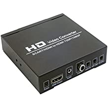 reado Scart a HDMI adattatore convertitore, supporta 480i (NTSC)/576i (PAL) Format segnale a 720p/1080p Uscita HDMI, collega facilmente con il lettore DVD, set-top box, HD, console di gioco (PS2, PS3, PSP, WII, XBOX360, ecc.)