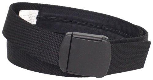 Reiseon Herren Stoff TSA-konform Militär Geldgürtel Schwarz