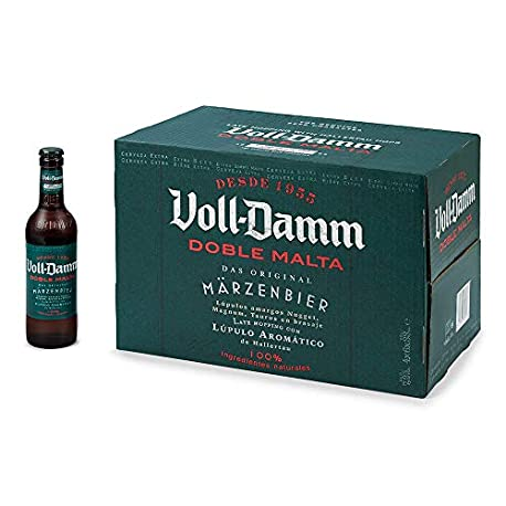 Voll Damm Cerveza Marzen Paquete de 24 x 330 ml Total 7920 ml