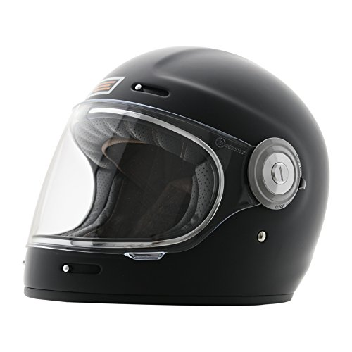 Origine Integralhelm Retro Cafe Racer Vega in Fiberglas X-Large mattschwarz