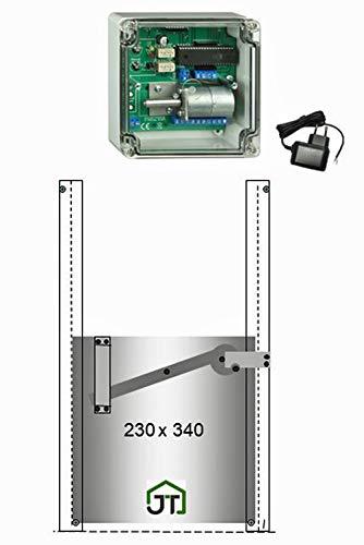 *JOSTechnik Automatische Hühnerklappe JT-HK + Klappe (M) mit Selbstverriegelung – Direkt vom Hersteller*