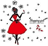 mqlerry Wandsticker Für Baby Wandaufkleber Shopping Girl Abnehmbare Pvc Wasserdichte Wandaufkleber Home Decor Zimmer Aufkleber Große Größe Schlafzimmer 60 * 45 Cm