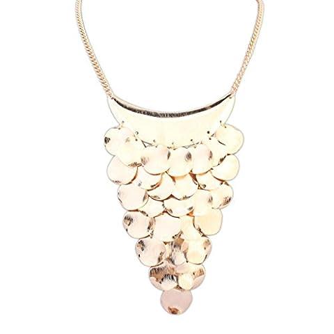 AMDXD Bijoux Plaqué or femmes ras du cou Colliers Or Demi Lune en métal Tag, Meilleur Cadeau pour elle