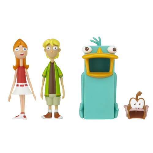 Kostüm Schnabeltier - Phineas & Ferb 3 inch Basic Action Figure 2-Pack - Candace and Jeremy Perry Costume (Spielfiguren Set mit Kostüm) aus USA