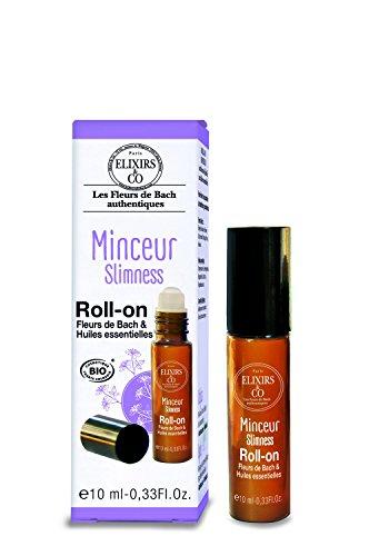 Elixirs & Co Roll-on Minceur aux Fleurs de bach et Huiles essentielles BIO 10 ml