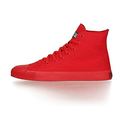Ethletic Sneaker Monochrom vegan HiCut - Farbe cranberry aus Bio-Baumwolle Größe 40 - 3