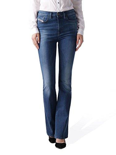 Diesel Skinzee-Flare 0826F Stretch Jeans pour femme Pantalons Culottes Bleu