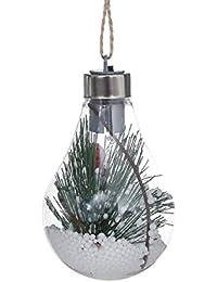 Hanfseil Ball Glühbirne Hängelampe Weihnachtsbaum Dekoration Licht Home Schlafzimmer Nachtlicht