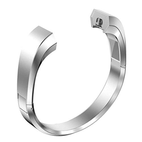 Kaiki für Fitbit Alta HR Smart Watch Armband,Edelstahl Uhrenarmband Armband für Fitbit Alta HR Smart Watch (Silver)