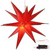 Weihnachtsstern Ø 45 cm rot, warmweiß, LED Stern für die Weihnachtsbeleuchtung innen und außen